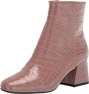 Steve Madden Women's Darma-P Ankle Boot, Tan Croco, 6.5