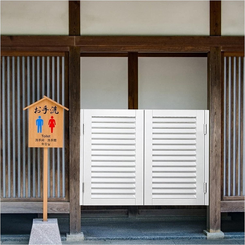 CAIJUN Puertas Batientes De Café, Madera Maciza Bar Entrada Puerta De Partición para Porche, Interior Cuarto Puerta con Bisagra De Resorte Personalizable (Color : B, Size : 75x100cm)