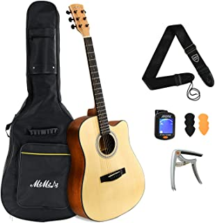 MIMIDI Beginner Acoustic Guitar - Full Size 41 inch Acoustic Guitar Set, Guitar Starter Kit for Beginners Adults and Kids ...