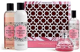 The Body Shop Japanese Cherry Blossom Strawberry Kiss Set Of 4 Pieces Perfume Eau de Toilette 50ml With Shower Gel 250ml &...