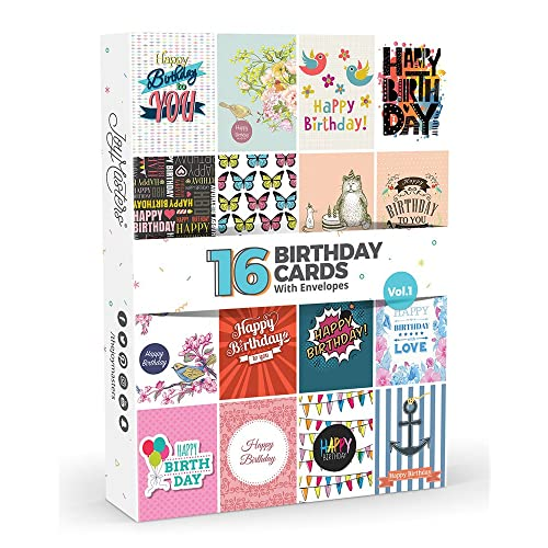 16 X Birthday Cards By Joy MastersTM Vol1