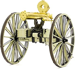 Fascinations Metal Earth Wild West Gatling Gun 3D Metal Model Kit