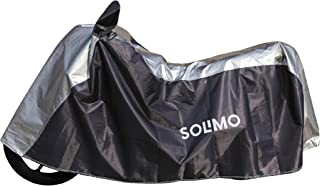 Amazon Brand - Solimo Universal Bike Water Resistant Bike Cover (Dark Blue & Silver)
