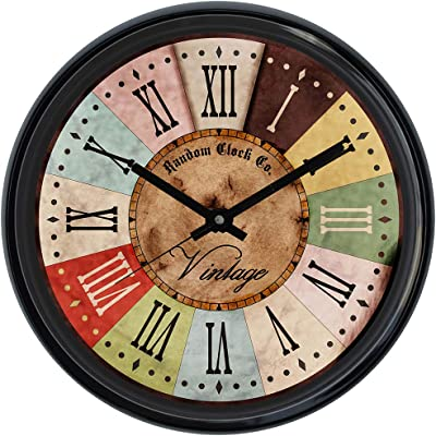 Random Wall Clock For Living Room, Bedroom, Home, Office, Kitchen, Round Shaped Designer Plastic Wall Clock For Home Decor, 12- inch, Black 30 x 30 cm(RC-6173)