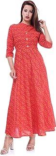 Ramkudi Indian Women's Printed Cotton Kurti Top