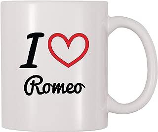 4 All Times I Love Romeo Personalized Name Coffee Mug (11 oz)