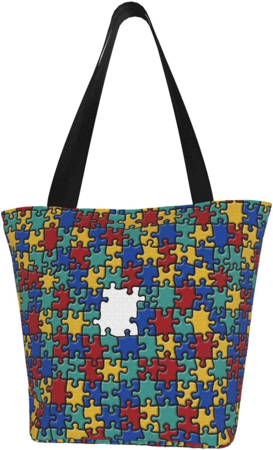 Infantile Autism Extra Large Water Canvas Resistant Bag for Jacksonville Mall Branded goods Tote