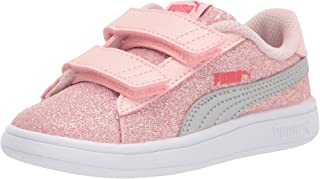 PUMA Unisex-Child Smash 2 Glitz Hook and Loop Sneaker