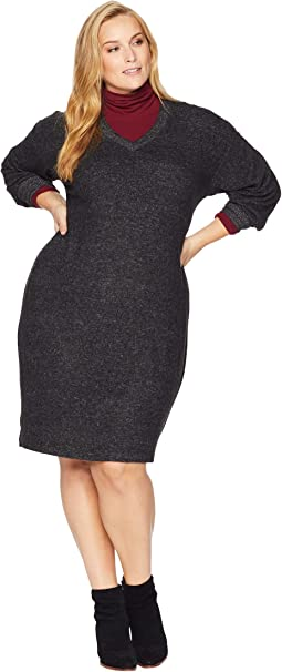 Plus Size Janice V-Neck Cozy Dress