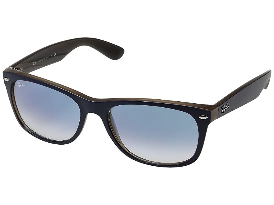 Ray-Ban 0RB2132 New Wayfarer 58mm (Blue on Brown/Light Blue Gradient) Fashion Sunglasses