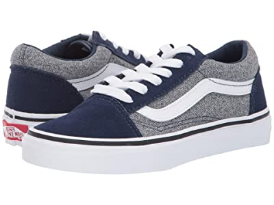 Vans Kids Old Skool (Little Kid/Big Kid) ((Suede) Suiting/Dress Blues) Boys Shoes