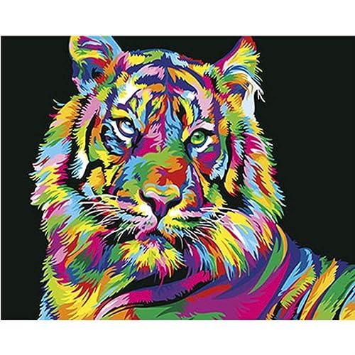 descuento AWRT Pintura al óleo Colorido DIY DIY DIY Pintura por Números Pintura Al óleo En Lienzo Casa Decoración Parojo c7 DIY Enmarcado 40x50cm  la mejor selección de