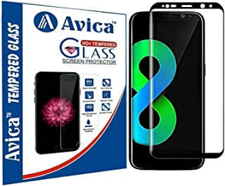 AVICA® Full Edge to Edge Cover Black 3D Curved Tempered Glass Screen Protector for Samsung Galaxy S8 Only