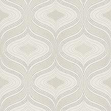 Grandeco Nuevo Marine papier peint A34102-Texturé Métallique Paillettes Motifs géométriques