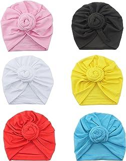 Bestjybt 6 Pcs Baby Knot Headbands Newborn Baby Hat Head Wrap