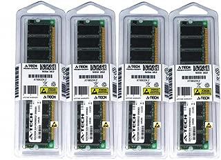2GB KIT (4 x 512MB) for Dell Dimension 1100 2400 4500S 4550 4600 4600C 4800 8300 B110. DIMM DDR Non-ECC PC2700 333MHz RAM Memory. Genuine A-Tech Brand.