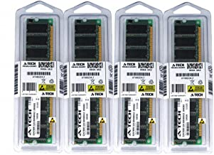 2GB KIT (4 x 512MB) for Dell Dimension 1100 2400 4500S 4550 4600 4600C 4800 8300 B110. DIMM DDR Non-ECC PC2700 333MHz RAM Memory. Genuine A-Tech Brand.