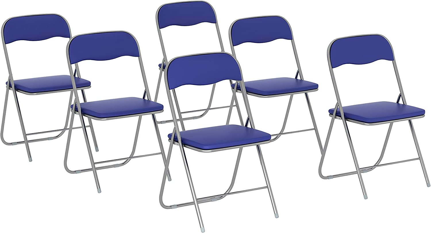FUILIAY Folding Chairs Surprise price with Upholstered Fra Metal online shopping Back Seat