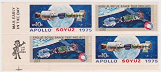 1975 Apollo Soyuz Space Test Project #1570a 4 X 10 Cent US Postage Stamps