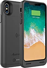 Alpatronix iPhone Xs/X Battery Case, BXXs 4200mAh Slim Portable Protective Extended Charger Cover with Qi Wireless Charging Compatible with iPhone X & iPhone Xs (5.8 inch) - (Black)