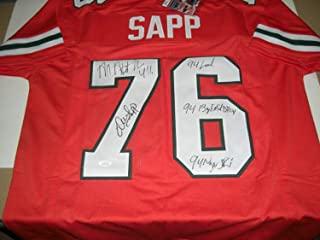 Warren Sapp Autographed Signed Miami Hurricanes All About The U! Full Stats JSA/COA Jersey