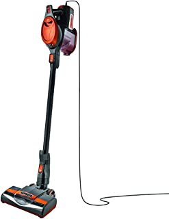 Shark Rocket HV302 Ultra-Light Corded Bagless Vacuum for Carpet and Hard Floor Cleaning with Swivel Steering, Orange (Renewed)