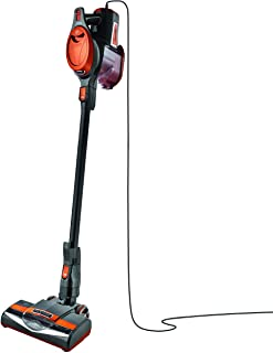 Shark Rocket Ultra-Light Corded Bagless Vacuum for Carpet and Hard Floor Cleaning with Swivel Steering and Car Detail Set (HV302), Gray/Orange (Renewed)