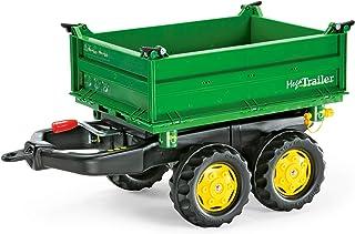 Rolly Toys rollyMega Trailer Anhänger für Kinder von 2,5 bis 5 Jahren, Dreiseitenkipper, Heckkupplung, Zweiachsanhänger 122004