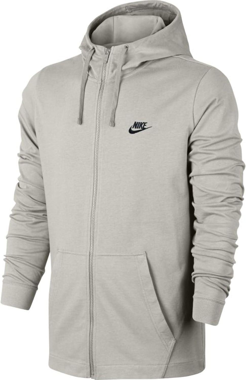 Nike Men's Sportswear Full Zip Hooded Long Sleeve TopLight Bone Black861754-072