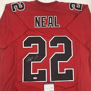 Autographed/Signed Keanu Neal Atlanta Color Rush Football Jersey PSA/DNA COA