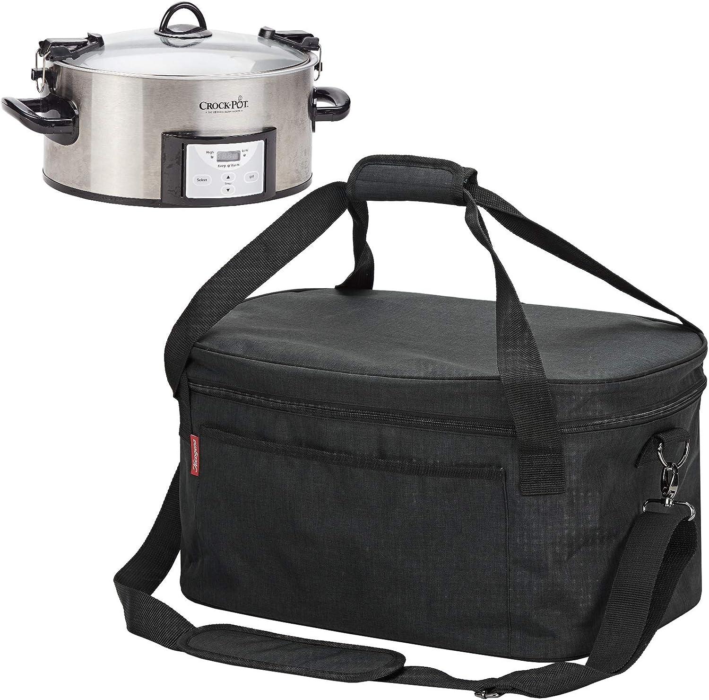 Slow Cookers Black NICOGENA Lightweight Slow Cooker Carrying Bag ...