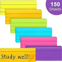 150 Piezas Notas Autoadhesivas con Rayas de Oración Color Arcoiris Notas Adhesivas con Rayas para Oficina Escuela, 6 Colores, 6 Paquetes (3 x 8 Pulgadas)