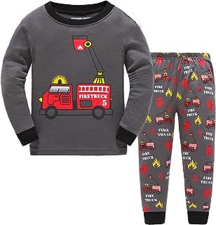 c4bfb91fa6e13 Showu Ensembles Pantalons Et Haut Garçon T-Shirt Tops à Manches Longues Et Pantalon  Enfants