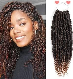 Spring Twist Hair 6 Pack Bomb Twist Crochet Hair 14 inch Spring Twist Crochet Braids Hair Synthetic Crochet Hair (T1b/30)