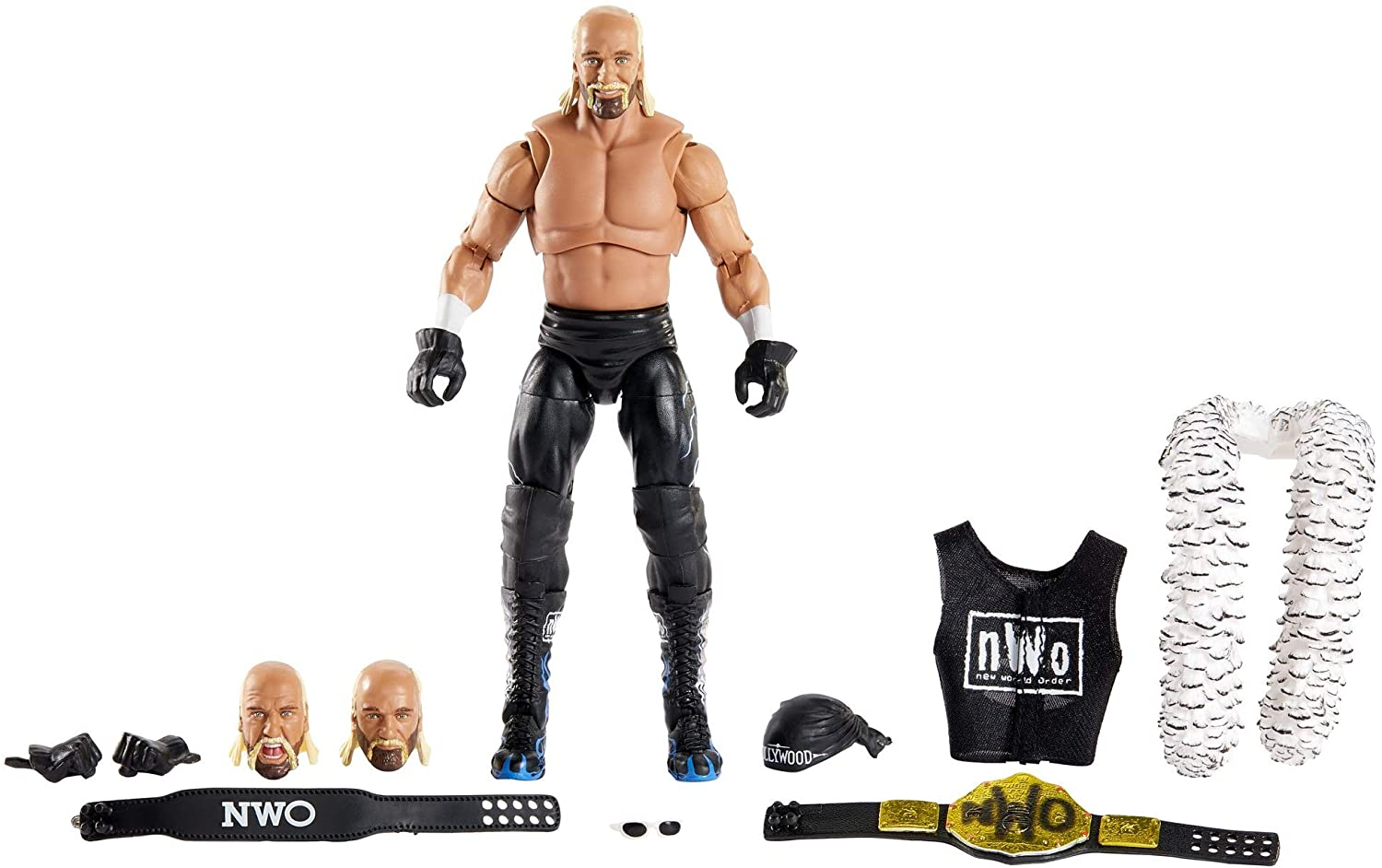 WWE Ultimate Edition Wave 7 Hollywood Hogan Action Figure 6 in with Interchangeable Entrance JacketLanternExtra Head and Swappable Hands for Ages 8 ...