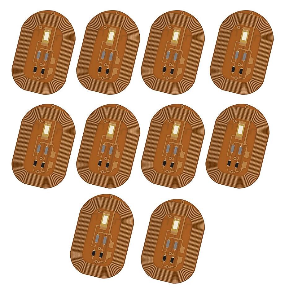 レンチ環境保護主義者暗唱するHomyl スマートネイル 10枚 ネイルチップ NFCチップ ステッカー LED  フラッシュ ネイルアート ICカード  CE認証