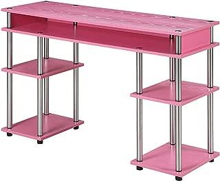 convenience concepts designs2go no tools student desk pink