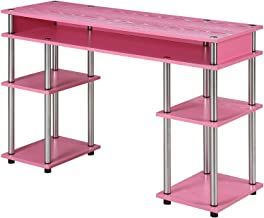 Convenience Concepts Designs2Go No Tools Student Desk, Pink