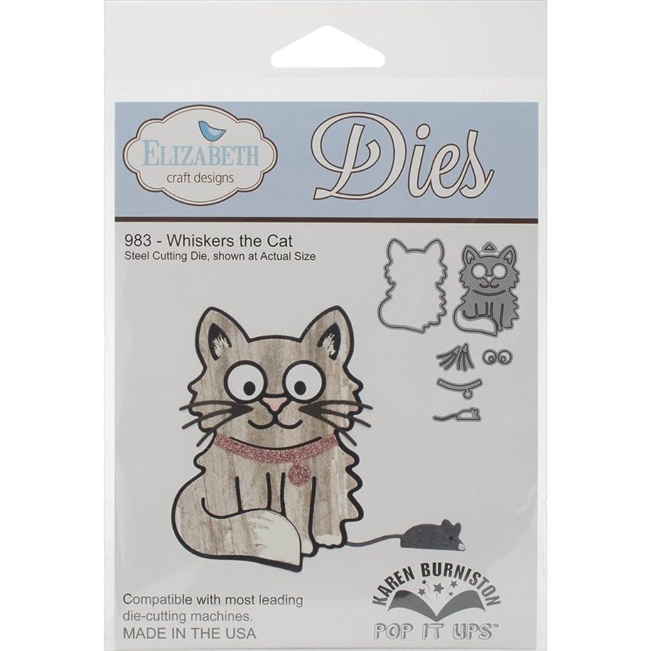 Elizabeth Craft Designs Whiskers The Cat Steel Cutting Die