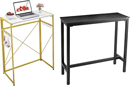 """high quality Mr outlet sale IRONSTONE 39.4"""" Bar Table high quality & 31.5"""" Folding Computer Desk outlet sale"""