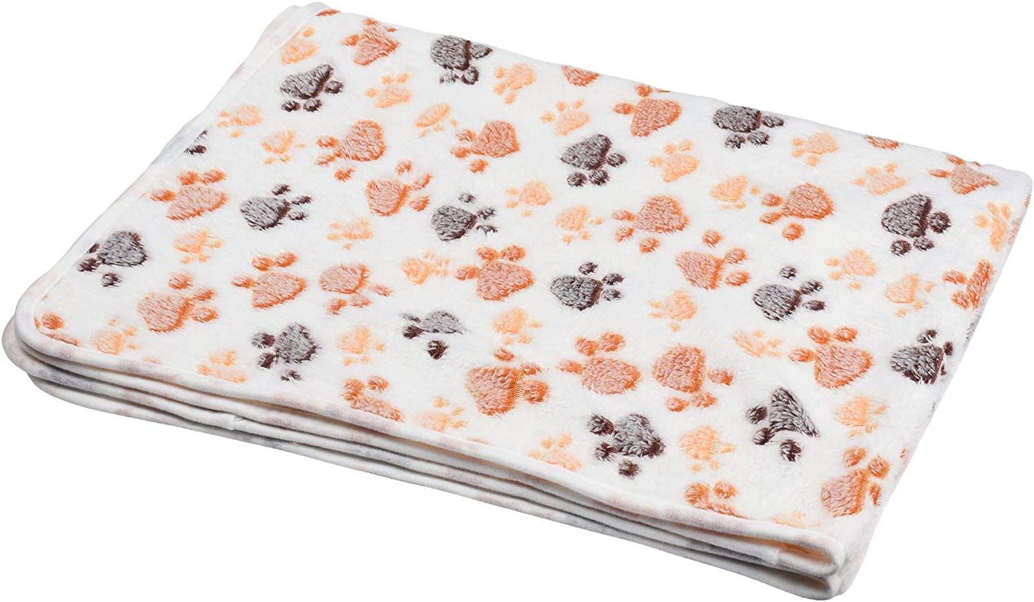 Cosmos Soft Pet Dog Cat Puppy Blanket Warm Bed Mat, 41  x 30  (White)