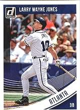 2018 Donruss Variations Larry Wayne Jones #195 Chipper Jones Atlanta Braves Baseball Card