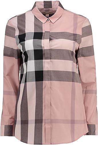 Burberry - Camisa con diseño de cuadros rosas para mujer Rosa ...