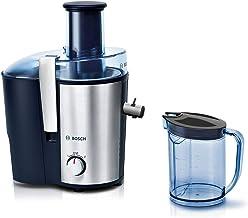 Bosch Råsaftcentrifug VitaJuice 3 - Blå - Pressar Juice ur Frukt och Grönsaker - Extra Stort Påfyllningsrör 73 mm - Hällpi...