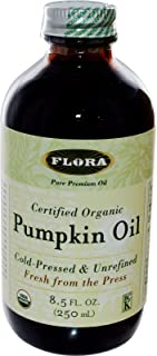 Organic Pumpkin Seed Oil 8.5 oz - Non GMO & Kosher - 100% Fresh Cold Pressed Artisan Oil - for Cooking, Skin Care, Hair Gr...