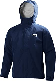 Helly-Hansen Seven J Chaqueta impermeable con forro de secado rápido, cortaviento y transpirable para hombre y para uso di...