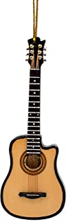 Broadway Gift String Guitar with Cutaway Miniature Replica 2 x 5 Wood Christmas Ornament
