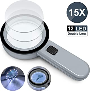 Mini lente dingrandimento per gioielli pieghevole 5X 45mm Lente di ingrandimento ad alta definizione per occhiali da vista con chiarezza eccellente nera e trasparente