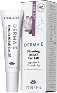 DERMA E Firming DMAE Eye Cream – Multi-Action Anti-Aging Under Eye Cream Firms, Tightens & Lifts – Reduces bags, Smooths L...