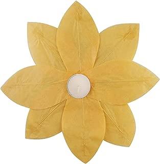 Lumabase 56706 6 Count Floating Lotus Paper Lanterns, Yellow